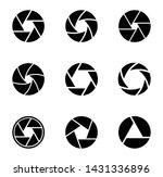 camera shutter icons set icons... | Shutterstock .eps vector #1431336896