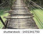 suspension bridge was built... | Shutterstock . vector #1431341750