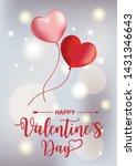 valentine banner design with... | Shutterstock .eps vector #1431346643