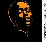 african woman portrait... | Shutterstock .eps vector #1431353090