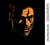 bearded man portrait silhouette ...   Shutterstock .eps vector #1431353870