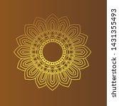 golden  dharma wheel in... | Shutterstock .eps vector #1431355493