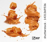 3d realistic vector set of a... | Shutterstock .eps vector #1431369536