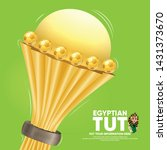 realistic cup award for african ... | Shutterstock .eps vector #1431373670