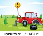 illustartion of a car bumping... | Shutterstock .eps vector #143138449