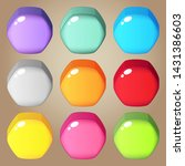 cute colorful candy hexagon for ...