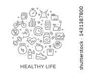 healthy lifestyle design... | Shutterstock .eps vector #1431387800