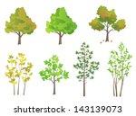 vector trees   design elements | Shutterstock .eps vector #143139073