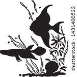 tropical fish   retro ad art... | Shutterstock .eps vector #1431400523