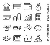 simple set of money and banking ... | Shutterstock .eps vector #1431403616