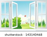 vector illustration  open... | Shutterstock .eps vector #143140468