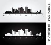 adelaide skyline and landmarks...   Shutterstock .eps vector #1431408836