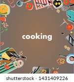design background cooking... | Shutterstock .eps vector #1431409226