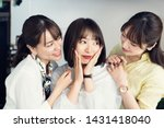 Stock photo group of asian woman in room 1431418040