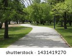 curved path in a beautiful park....   Shutterstock . vector #1431419270