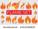 fire flames set   any shape of... | Shutterstock .eps vector #1431436820