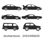 Stock vector vector cars icons set side view 1431440633