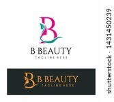 letter b beauty logo spa nature ...