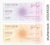 gift certificate  voucher ... | Shutterstock .eps vector #143145220