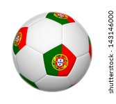 flags on soccer ball of portugal | Shutterstock . vector #143146000