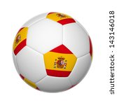 flags on soccer ball of spain | Shutterstock . vector #143146018