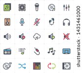 icon set   voice and audio full ... | Shutterstock .eps vector #1431461000