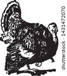 turkey   retro ad art... | Shutterstock .eps vector #1431472070