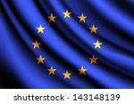 waving flag of european union ... | Shutterstock .eps vector #143148139