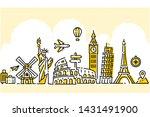 world travel illustration flat... | Shutterstock .eps vector #1431491900