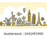 World Travel Illustration Flat...