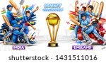 illustration of batsman player... | Shutterstock .eps vector #1431511016