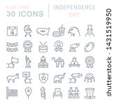 set of vector line icons of... | Shutterstock .eps vector #1431519950