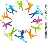 world of sports. vector... | Shutterstock .eps vector #143154298
