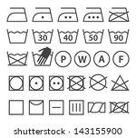 set of washing symbols. laundry ... | Shutterstock .eps vector #143155900