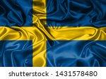 swedish flag background high... | Shutterstock . vector #1431578480
