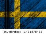 swedish flag background high... | Shutterstock . vector #1431578483