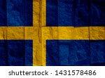 swedish flag background high... | Shutterstock . vector #1431578486
