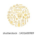 vector banner with a outline... | Shutterstock .eps vector #1431600989