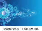 abstract technology web banner... | Shutterstock .eps vector #1431625706