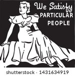 we satisfy particular people  ... | Shutterstock .eps vector #1431634919