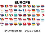 set of european countries flags ... | Shutterstock . vector #143164366