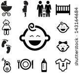 Baby icons | Shutterstock vector #143164684