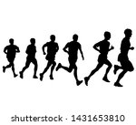 people athletes on running race ... | Shutterstock .eps vector #1431653810