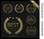 golden laurel wreath label... | Shutterstock .eps vector #1431662516