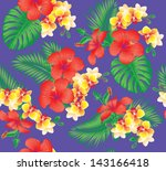 seamless floral fashion pattern ... | Shutterstock .eps vector #143166418