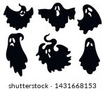 set of ghosts. collection of... | Shutterstock .eps vector #1431668153