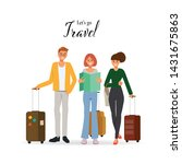 people character traveling in... | Shutterstock .eps vector #1431675863