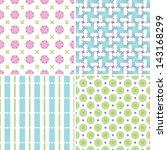 set of four seamless patterns... | Shutterstock .eps vector #143168299