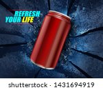 energy drink canned on... | Shutterstock .eps vector #1431694919