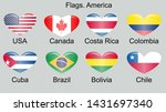 american countries flag set... | Shutterstock . vector #1431697340